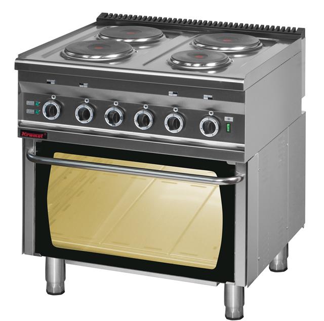 Kuchnia elektryczna 4 płytowa z piekarnikiem elektrycznym 700 KE 4 PE 2 • KRO   -> Kuchnia Elektryczna Z Piekarnikiem Elektrycznym