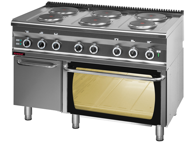 Kuchnia elektryczna 6 płytowa z piekarnikiem elektrycznym 700 KE 6 PE 2 SD •   -> Kuchnia Elektryczna Z Piekarnikiem Gastronomiczna