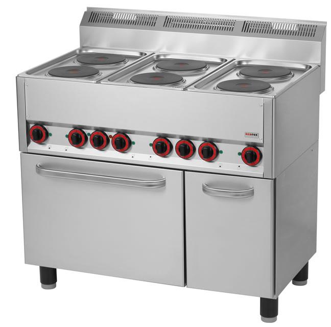 Kuchnia elektryczna 6 płytowa z piekarnikiem elektrycznym i szafką KSPT 99ET   -> Kuchnia Elektryczna Z Piekarnikiem Elektrycznym