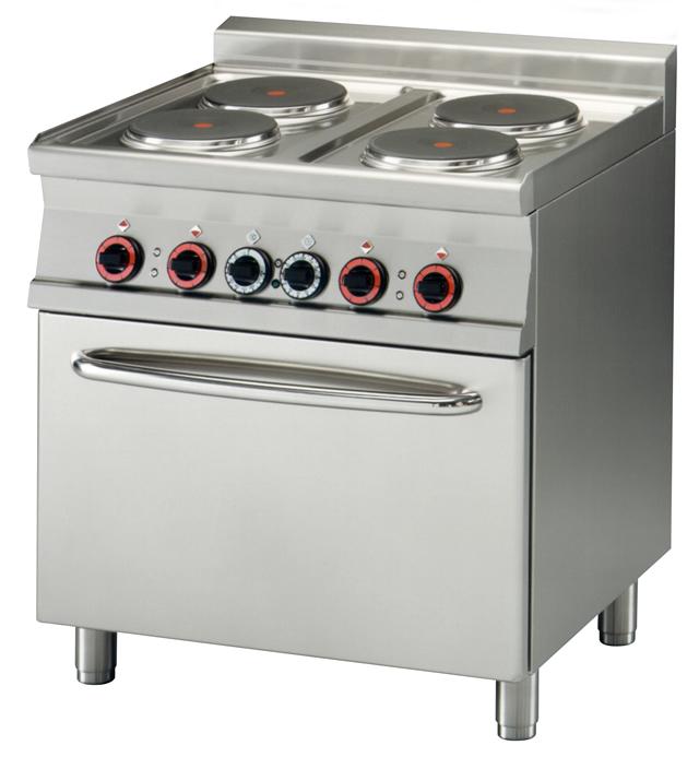 Kuchnia elektryczna 4 płytowa z piekarnikiem elektrycznym CF4 78ET  00000958   -> Kuchnia Elektryczna Z Piekarnikiem Elektrycznym