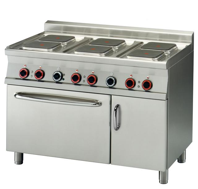 Kuchnia elektryczna 6 płytowa z piekarnikiem elektrycznym CFQ6 712ETV  00000   -> Kuchnia Elektryczna Z Piekarnikiem Elektrycznym
