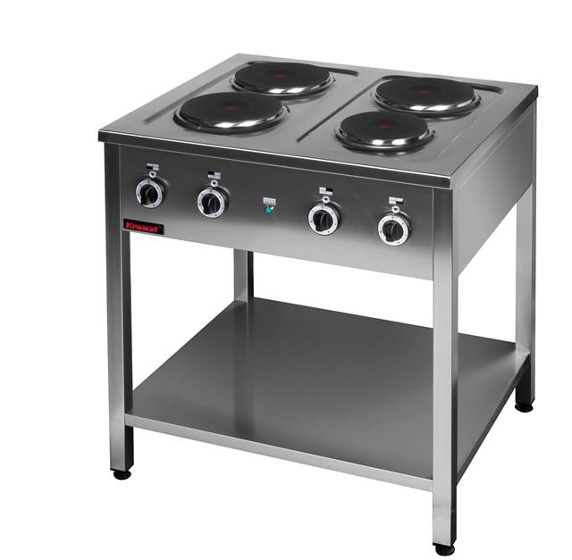 Kuchnia elektryczna 4 płytowa na podstawie z półką 000 KE   -> Kuchnia Gazowa Kromet Cześci