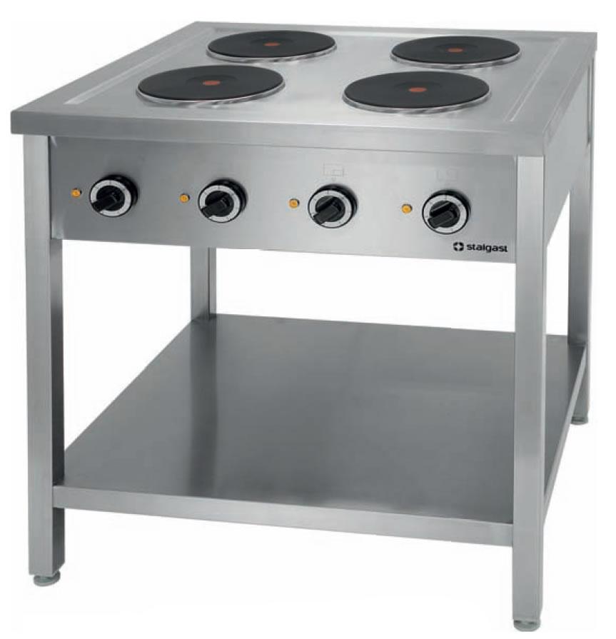 Kuchnia elektryczna 4 płytowa na podstawie z półką 979500   -> Kuchnia Gazowa Vs Elektryczna