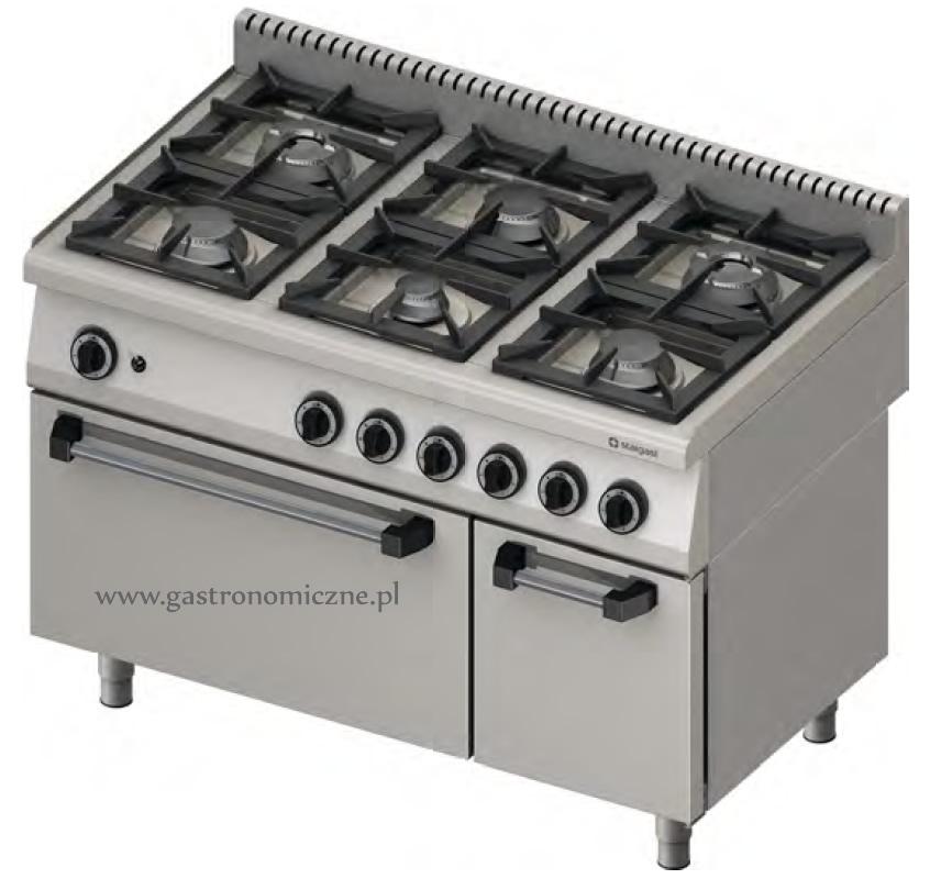 Kuchnia gazowa 6 palnikowa z piekarnikiem gazowym 971111   -> Kuchnia Gazowa Z Piekarnikiem