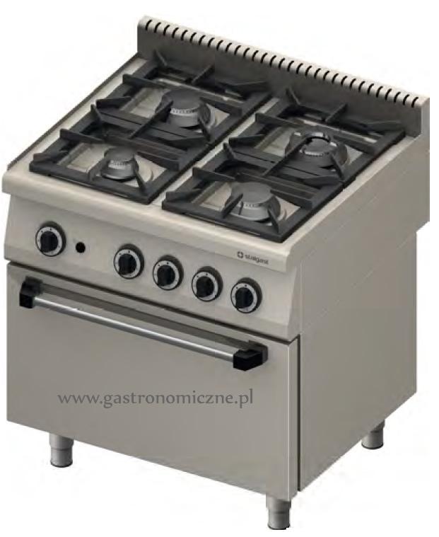 Kuchnia gazowa 4 palnikowa z piekarnikiem elektrycznym 971631 • STALGAST • Ku   -> Kuchnia Gazowa Moc