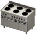 Kuchnia elektryczna 6-płytowa z piekarnikiem elektrycznym 971700