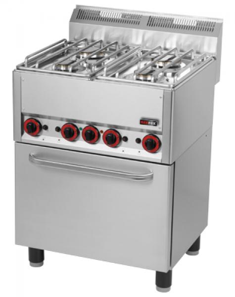 Kuchnia Gazowa 4 Palnikowa Z Piekarnikiem Elektrycznym Spt60gl