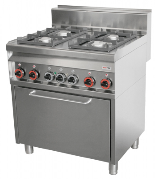 kuchnia gazowa 4palnikowa z piekarnikiem gazowym cfe48g