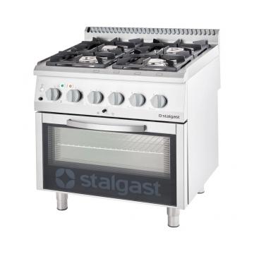 Kuchnia gazowa 4 palnikowa z piekarnikiem elektrycznym 20.5kW (zestaw) - G20 model 9715110 firmy Stalgast