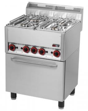 Kuchnia gazowa 4-palnikowa z piekarnikiem elektrycznym model SPT60GL / 00000539