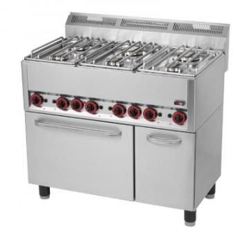 Kuchnia gazowa 6-palnikowa z piekarnikiem elektrycznym model SPT90GL / 00000541