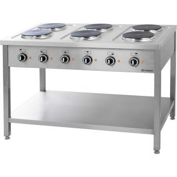 Kuchnia elektryczna 6 płytowa na podstawie z półką model 979600 firmy Stalgast