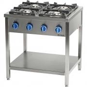 Kuchnia gazowa wolnostojąca 900 - 4 palnikowa z półką 20,5kW - G20 (GZ50)