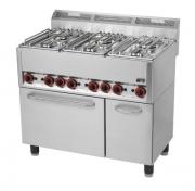 Kuchnia gazowa 6-palnikowa z piekarnikiem elektrycznym SPT90GL / 00000541