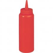 Dyspenser do sosów z polietylenu czerwony 065351